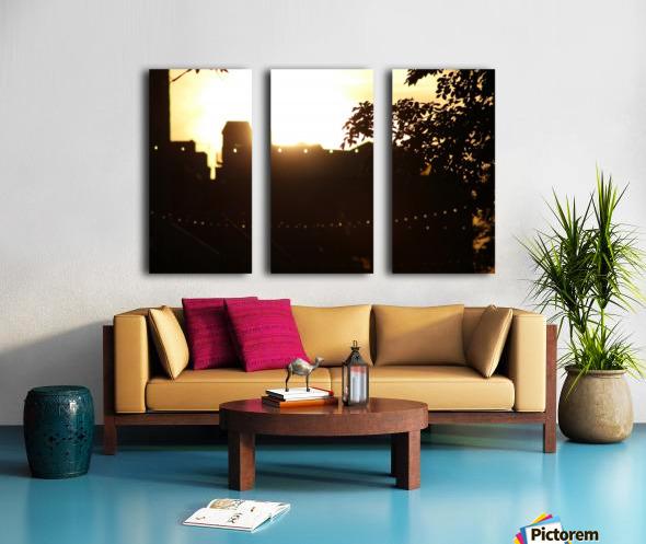 Montreal Sunset Split Canvas print