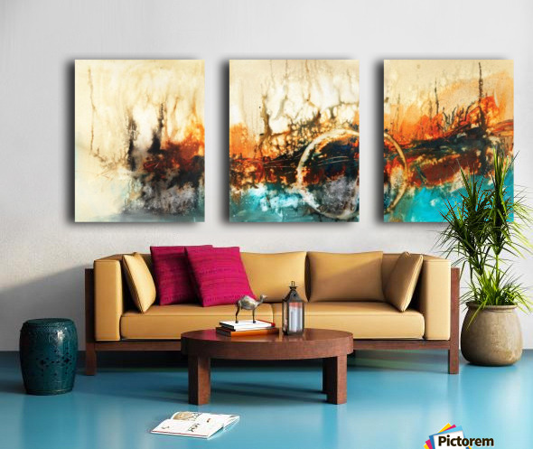 Abstract 46 Split Canvas print