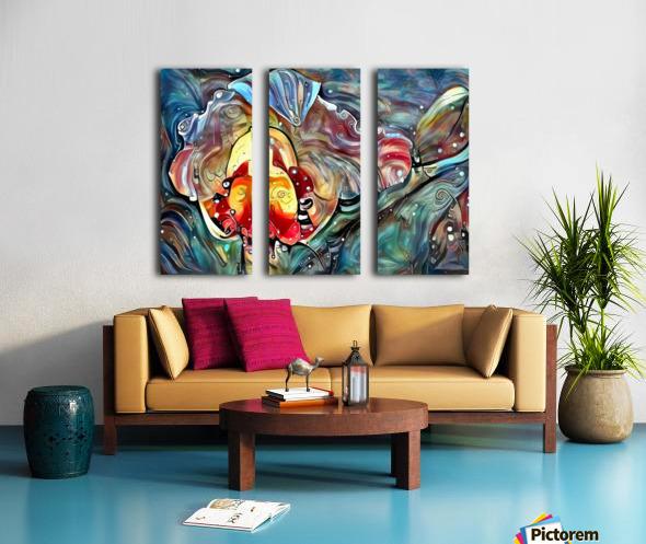 Trendy Abstract Split Canvas print