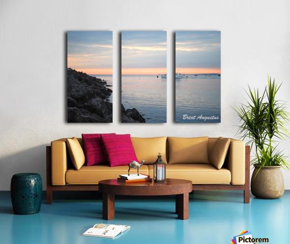 Sunrise Bay Split Canvas print