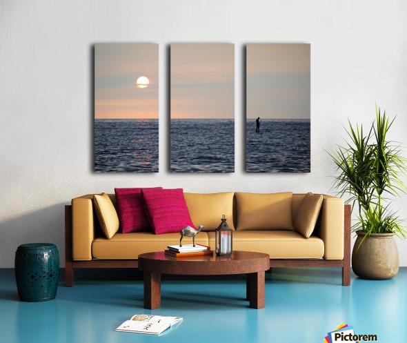 Sinking Sunset Split Canvas print