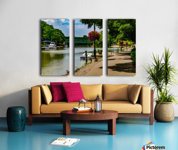 Erie Canal Vacation Split Canvas print