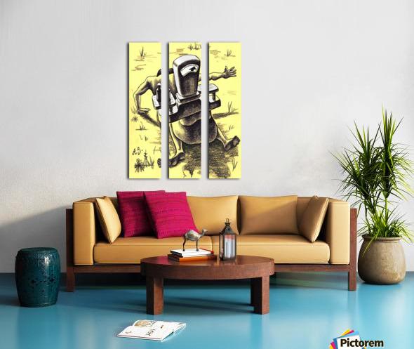 hardship Split Canvas print