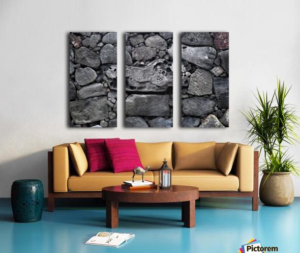 Lava brick Split Canvas print