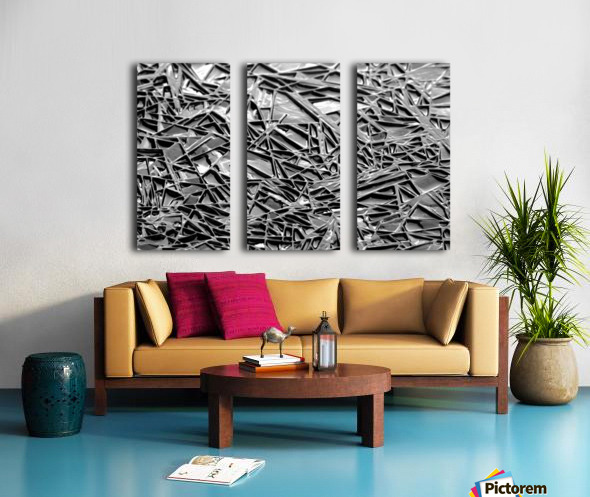 Natural Geometry Black And White Split Canvas print