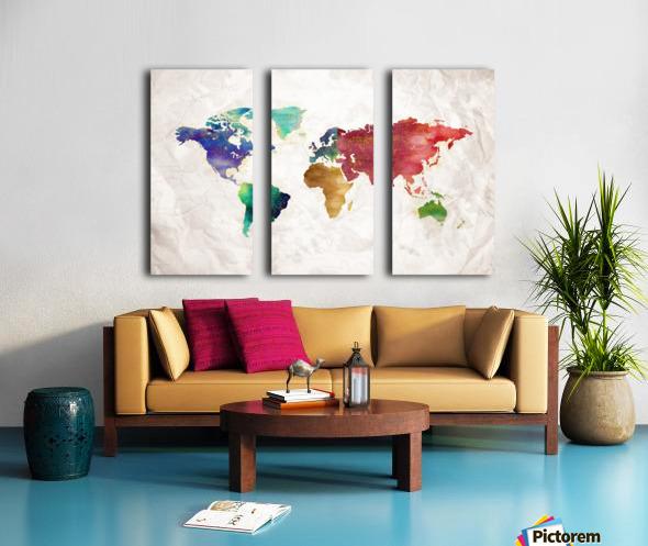 Artistic World Map II Split Canvas print
