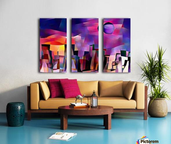 Dream Town Split Canvas print