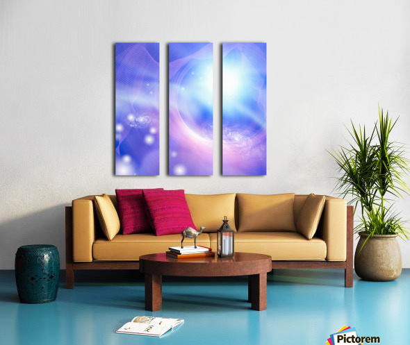 Galaxies Split Canvas print