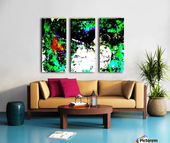 ROCHER 2 - Inverted Colours Split Canvas print