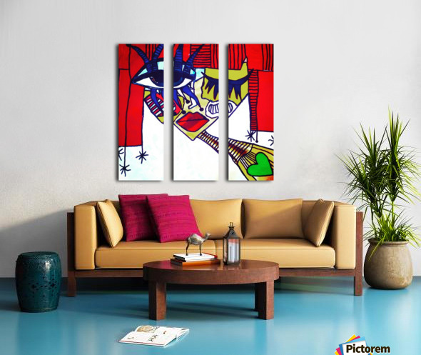 Red Warhol Split Canvas print