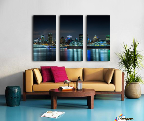 Montreal Skyline Split Canvas print
