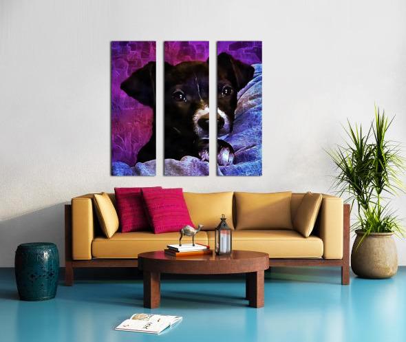 Soft Puppy Snuggles Split Canvas print