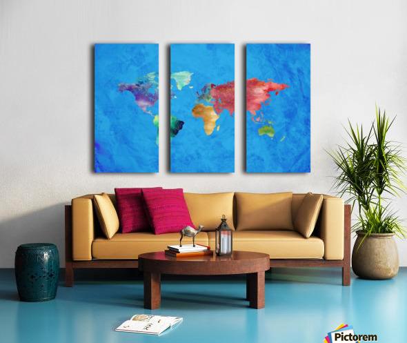 Artistic World Map III Split Canvas print