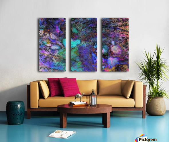 Paw Prints Soft Colours Split Canvas print