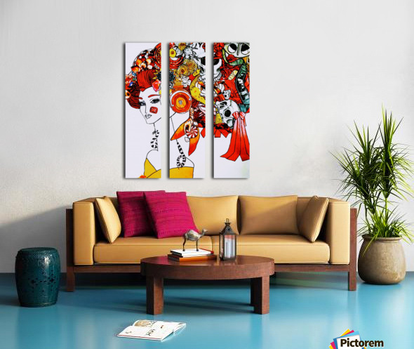 DEADBUG Geisha Split Canvas print
