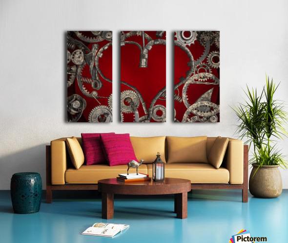 Mechanical Love Split Canvas print