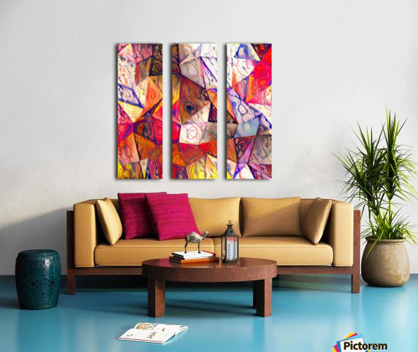Modern Digital Abstract Painting Split Canvas print