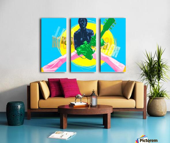 Rocknroll Split Canvas print