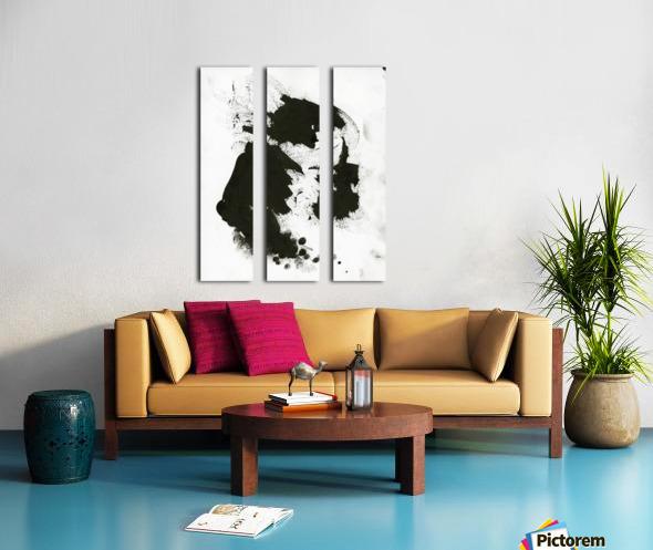 Rock God Split Canvas print