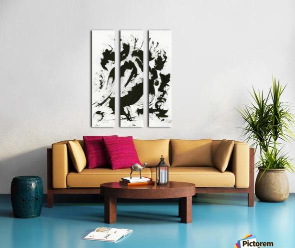 Fierce Split Canvas print