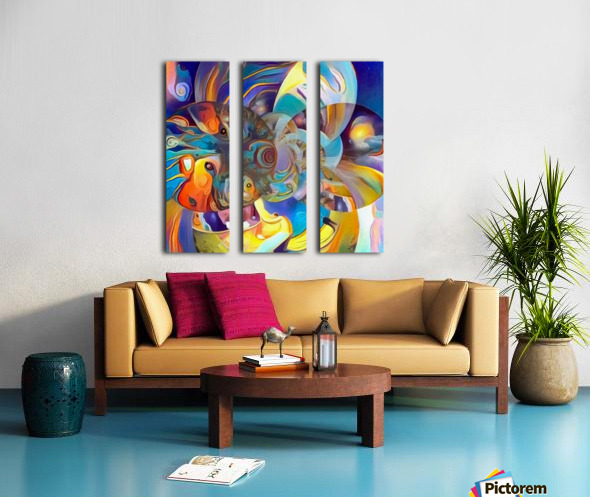 Vivid Illusion Split Canvas print