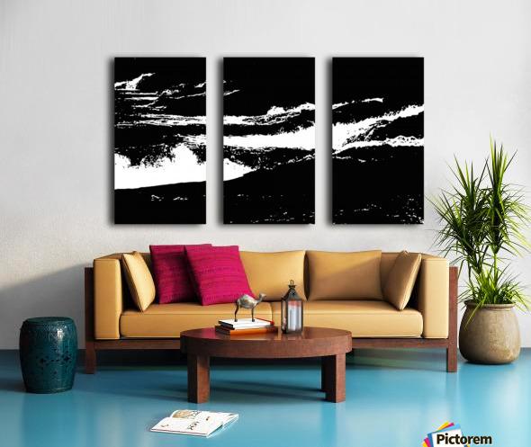 RECOLLET FALLS 5 -  Black & White High Contrast Split Canvas print