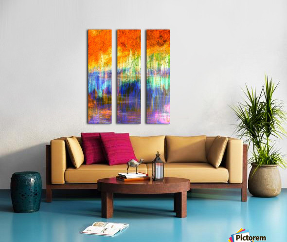 Lake Sunset Split Canvas print
