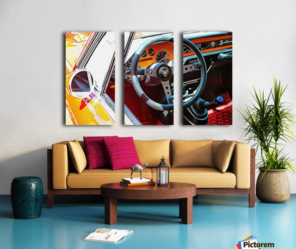 Lancia Fulvia Through The Window Split Canvas print