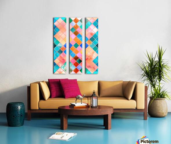 Geometric XXXX Split Canvas print