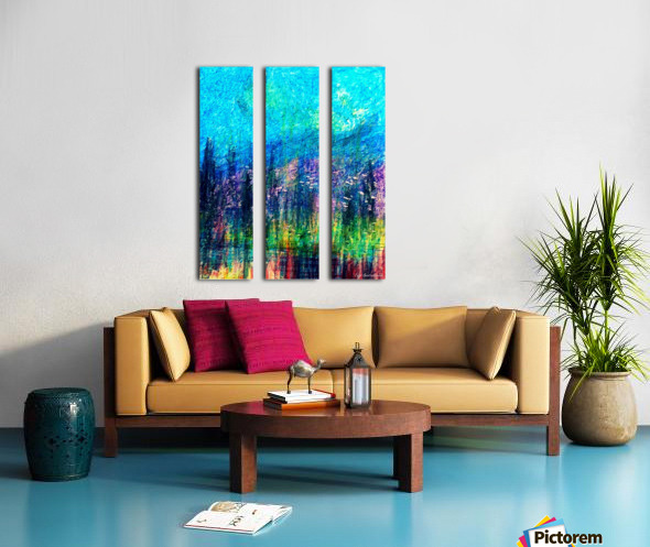 Luminous Night Split Canvas print