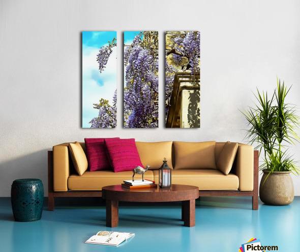 Wisteria Cascade Split Canvas print