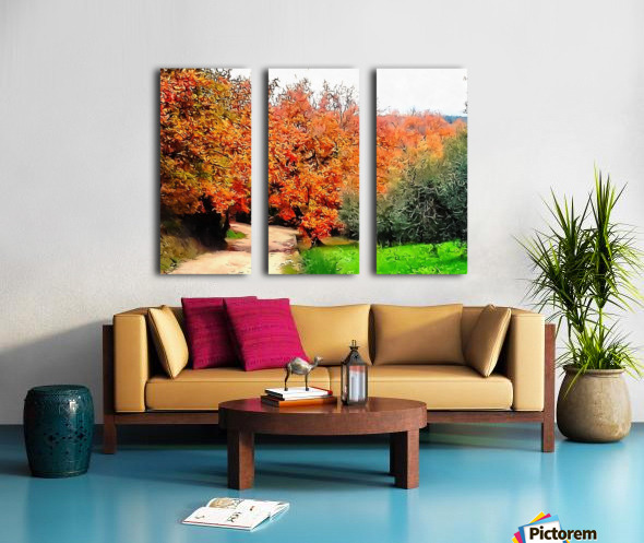 Autumn Golden Colours Umbria Split Canvas print