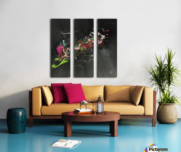 BIRD OF PARADISE Split Canvas print