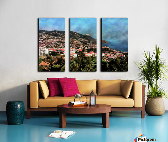 Funchal View Madeira 2 Split Canvas print