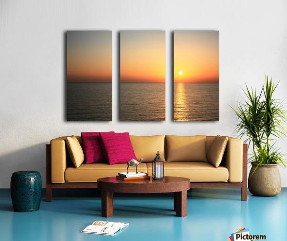 Warm horizon Split Canvas print