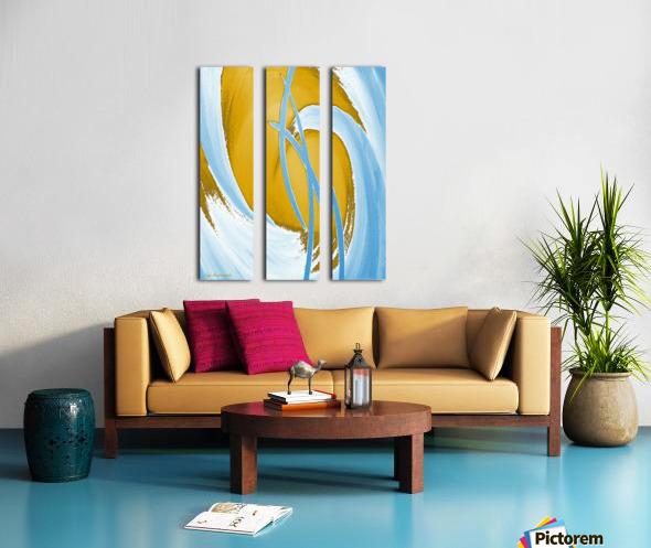 Energy Flow Split Canvas print