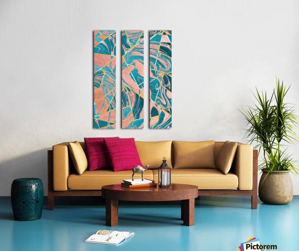 Geometric XXXXIII Split Canvas print