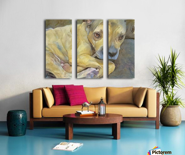 Dog Painting (24) Split Canvas print