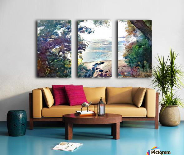 Landscape Painting (6) Split Canvas print