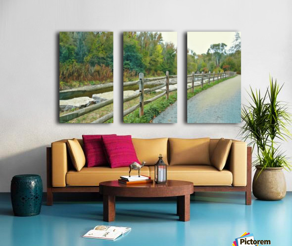 Original Landscape Painting No. 13 from The Billy Truong Art Collection Split Canvas print