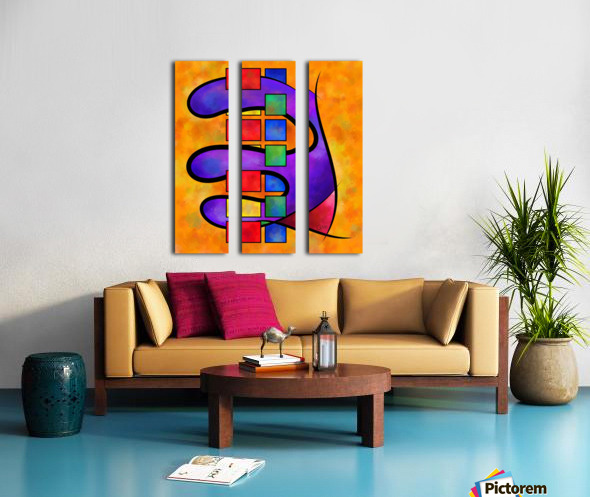 Desmelotipia - colourful cubes Split Canvas print