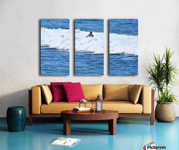Catch a Wave Split Canvas print