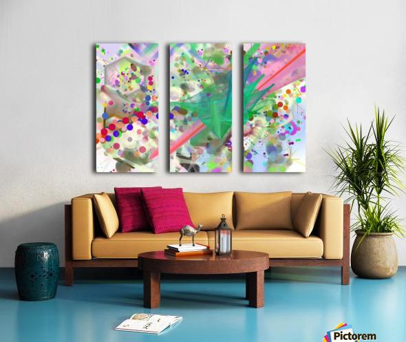 New Popular Beautiful Patterns Cool Design Best Abstract Art (6) Split Canvas print
