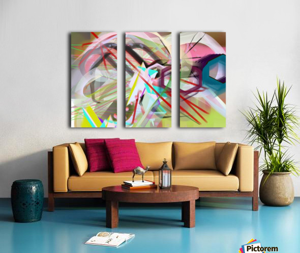 New Popular Beautiful Patterns Cool Design Best Abstract Art (2) Split Canvas print