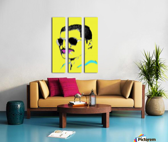 Yellow Freddie Mercury Split Canvas print