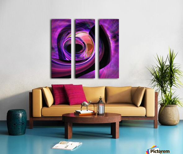 Abstract rendered artwork 3 Split Canvas print