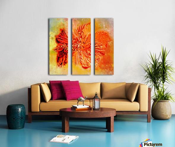 Tropical Hibiscus Floral Split Canvas print