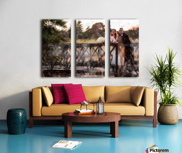 Scott and Stephanie: Color Split Canvas print