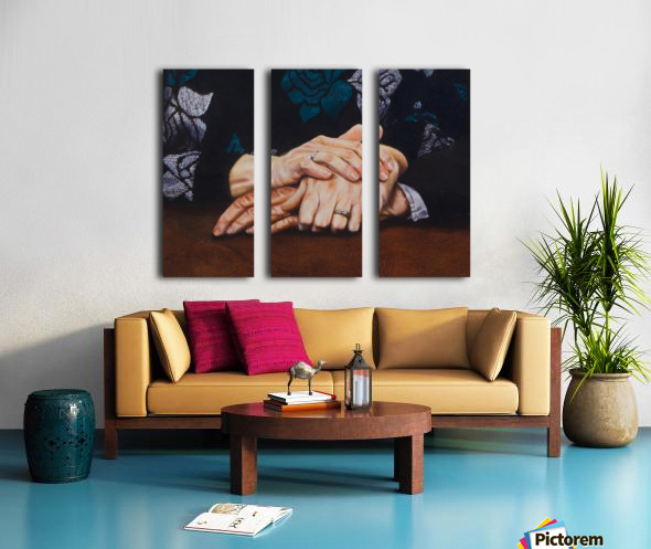 Forever Love Split Canvas print