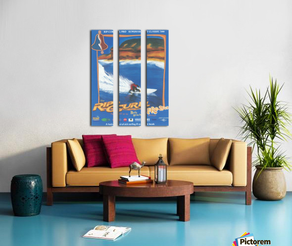 2000 RIP CURL PRO BELLS BEACH EASTER Surfing Championship Competition Print - Surfing Poster Split Canvas print